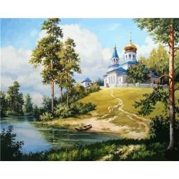 HUACAN pintura al óleo por números paisaje DIY imágenes por números paisaje de árboles Kits de verano dibujo lienzo decoración p