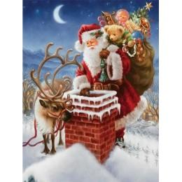 AZQSD pintura por números Santa Claus cuadros DIY pintura sin marco sobre lienzo pintado a mano pintura al óleo pintura regalo d