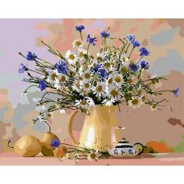 Pintura por número de flores, pintura de cuadros por números, pintura de números