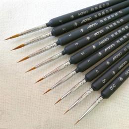 5 uds. Juego de pinceles en miniatura de Nylon profesional pintura acrílica gancho fino línea pluma arte suministros pintado a m
