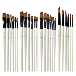 Pinceles de pluma de artista respetuosos con el medio ambiente lápiz de acuarela blanco perla pintura de acuarela al óleo de Nyl