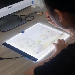 Tablero de dibujo con iluminación LED Ultra A4 mesa de dibujo almohadilla de luz para tableta libro de bocetos lienzo en blanco