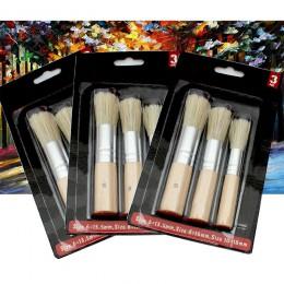 3 uds artesanías estudiantes regalo acrílico acuarelas pinturas al óleo herramientas mango de madera pincel plantillas Cerdas de