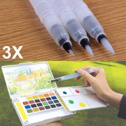 1/3 Uds tinta recargable Color pluma pincel agua pintura caligrafía pluma para ilustración Oficina papelería LBShipping
