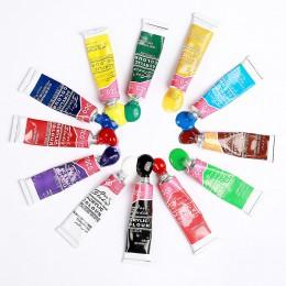 Juego de pinturas acrílicas profesionales de 12 colores de 6 ML pintadas a mano para pared, pintura textil, suministros de Arte