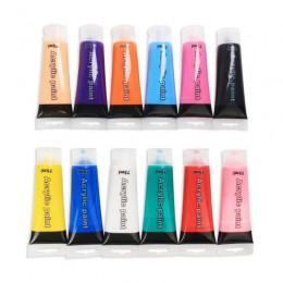 75ml pintura acrílica de la pared de la manguera pintura de tela para la ropa textil de fibra de uñas pigmento acrílico pinturas