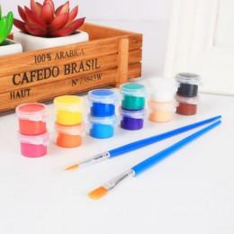 12 colores pinturas acrílicas juego de pinceles de agua para ropa tela textil pintado a mano pared pintura de yeso dibujo para n