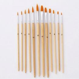 12 unids/lote pincel de pintura de diferentes tamaños de color de registro de Nylon pinceles para pintura al óleo Set para acuar
