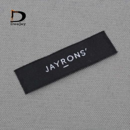 De marca de ropa etiquetas privado rótulos tejidas logo y etiquetas 1000 unids/lote