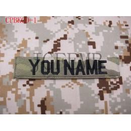 Letras negras Multicam personalizado nombre cintas para el pecho servicios cintas moral táctica militar bordado parches insignia