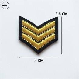 1 Uds. parches de corona bordados con hierro en parches para ropa DIY ropa de rayas pegatinas personalizadas de rango militar in