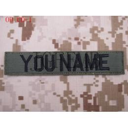 Verde de cintas pecho cintas servicios cintas moral táctica militar parche bordado insignias