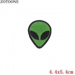 ZOTOONE 1 Pza Parches de dedo bordados hierro en Parches para ropa DIY rayas Alien adhesivos para ropa personalizados DIY corazó