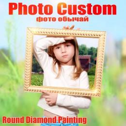 Huacan foto personalizado bordado de diamantes completo cristal diamante pintura punto de cruz diamante mosaico Kits regalo de c