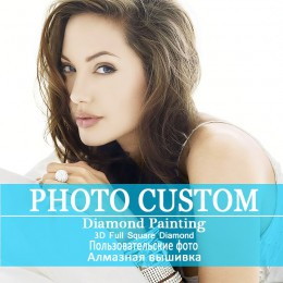 ¡Foto personalizado! ¡Personalizado privado! ¡5D pintura de diamantes DIY! Haz tu propio bordado de diamante de estrás cuadrado