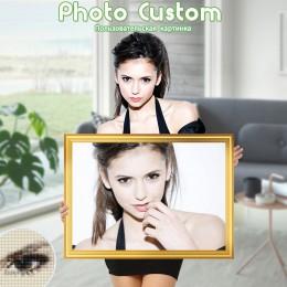 DIY foto personalizado de pintura completa cuadrado foto de diamantes de imitación diamante bordado con ornamentación con cuenta