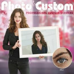 Huacan foto personalizada 5D pintura de diamante cuadrado completo/redondo taladro diamante bordado venta foto de boda de pedrer