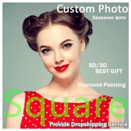 ¡DIY 5D foto personalizada! ¡Personalizado privado! Pintura de diamantes tu propia pintura de diamantes bordado de diamantes de