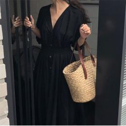 Nuevo 2019 vestidos de mujer de colores de Primavera Verano de algodón de lino elegante señoras plisado largo blanco vestidos cu