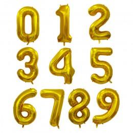 30 40 pulgadas globos grandes de papel de aluminio de cumpleaños globos de gas helio número globo decoración para fiesta de feli