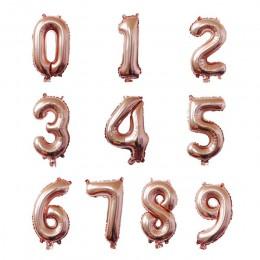 """40 """"globos de Oro rosa Número de lámina globo decoraciones de fiesta de cumpleaños figura de niños globos de aire globos globo d"""