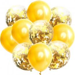 10 unids/lote globos de látex de 12 pulgadas y decoraciones de fiesta de cumpleaños de confeti de colores decoración de boda Ros