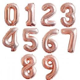 1 pieza 40 pulgadas oro plata número lámina Globos cumpleaños fiesta decoraciones niños boda decoraciones Globos rosa oro fiesta