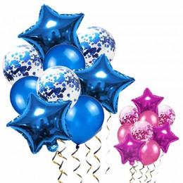 Azul Globos de aire Deco cumpleaños Confetti globo estrella globo decoraciones de fiesta de cumpleaños de niños decoración de la