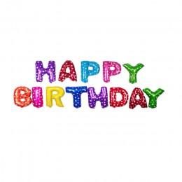 16 pulgadas letras de papel de aluminio de feliz cumpleaños globos decoración para fiesta de feliz cumpleaños niños alfabeto glo