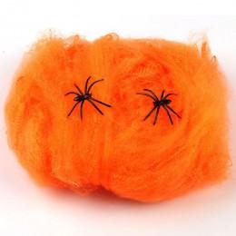 Accesorios de la escena de la fiesta de miedo de Halloween blanco elástico telaraña Web Horror decoración de Halloween para Bar