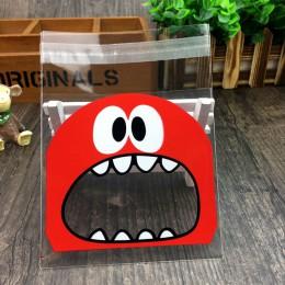 50 Uds. Bolsa de plástico grande Linda Teech Mouth Monster boda cumpleaños galleta caramelo regalo bolsas de embalaje OPP Auto a