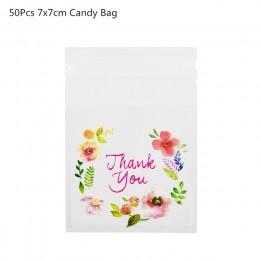 50/100 Uds. Bolsas de plástico bolsa de galletas y dulces autoadhesiva para la fiesta de cumpleaños de la boda bolsa de regalo b