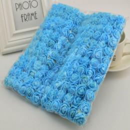 144 Uds 2cm MINI rosas de espuma para la boda en casa decoración de flores falsas Scrapbooking diy caja de regalo con corona ram