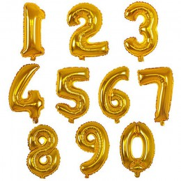 32 pulgadas globos de gran número Baby Shower Helium Foil Ballon oro plata Rosa rojo azul dígitos globos de cumpleaños fiesta bo
