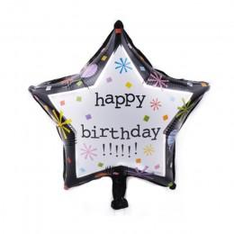 Nuevo 33 paterns 18-pulgadas globo de papel de aluminio redondo Feliz cumpleaños globos hinchables de helio fiesta de cumpleaños