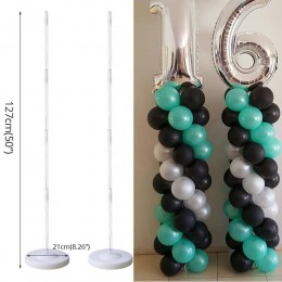 Juego de columna de globos de cumpleaños Cyuan, soporte de arco de globos de plástico con Base y poste para fiesta de cumpleaños