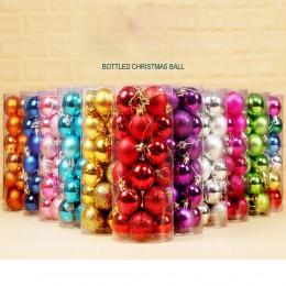 24 Uds Bola de decoración de árbol de Navidad adornos decorativos con forma de bola para colgar para el hogar regalo de decoraci