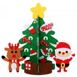 Regalos de Navidad de fieltro para niños, juguetes para niños, adornos artificiales para colgar en la pared, adornos de Navidad
