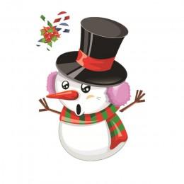 Adhesivo de ventana navideño Santa Claus/muñeco de nieve/ALCE Etiqueta de cristal Navidad adornos navideños para el hogar Natal