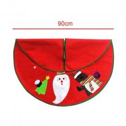 1 pieza de alfombra blanca de felpa de piel de árbol de navidad feliz adornos navideños para el hogar Natal faldas de árbol Año