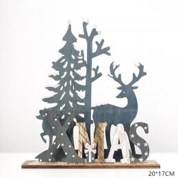 2020 Año Nuevo Natural Navidad alce madera artesanía árbol de Navidad ornamento navideño Noel decoración de Navidad para el hoga
