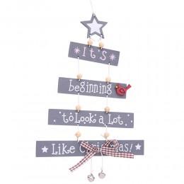 Árbol de adornos de Navidad adornos estampados colgantes accesorios suministros decoraciones navideñas para el hogar 2018 calien