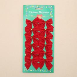 12 piezas bonito arco árbol de Navidad adornos Navidad colgante decoraciones de Navidad para el hogar Año Nuevo Navidad Kerst su