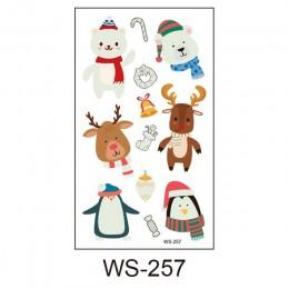 1 Uds luminosa tatuaje temporal pegatinas, decoración de fiesta de Navidad, de carnaval, de fiesta decoración decoraciones de Na