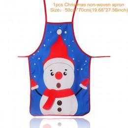 Decoraciones de Navidad para el hogar 1 piezas de Navidad de Santa Claus delantal de Navidad, decoración Noel Navidad Año Nuevo