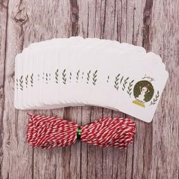 50 unids/lote Feliz Navidad DIY etiquetas de regalo únicas de la alegría al mundo etiqueta pequeña tarjeta opcional cadena DIY e