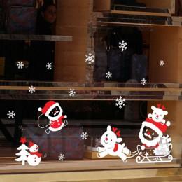 Adhesivo de ventana navideño extraíble decoración de Navidad de Papá Noel para decoración de Navidad del hogar feliz Navidad 201