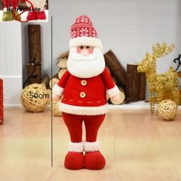 Tamaño grande muñecas de Navidad retráctiles Santa Claus muñeco de nieve juguetes de alce figuras de navidad regalo de Navidad p