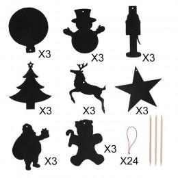 Our warm 24 Uds Magic Color Scratch adornos de Navidad bonitos colgantes de papel decoración de árbol de Navidad suministros par