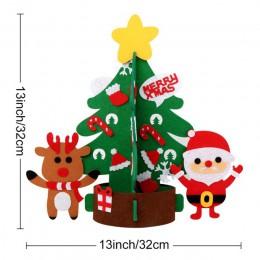 Nuestros cálidos regalos de Año Nuevo niños DIY fieltro árbol de Navidad decoraciones regalos de Navidad para 2018 Puerta de Año